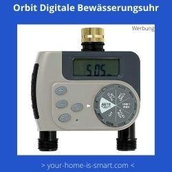 Digitale Bewässerungsuhr mit zwei Wasseranschlüssen von der Firma Orbit