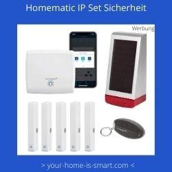 komplettes smart home sicherheitsset der firma homematic