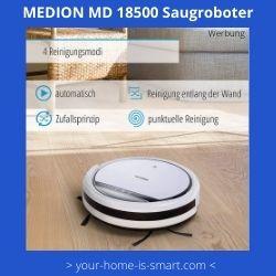 Staubsaugerroboter der Firma Medion Modell MD 18500