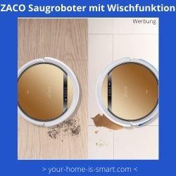 Saugroboter mit wischfunktion von der firma zaco