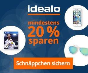 Banner Idealo 20 Prozent sparen - mobil
